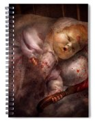 Creepy - Doll - Night Terrors Spiral Notebook