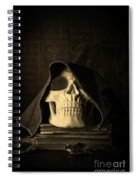 Creepy Hooded Skull Spiral Notebook