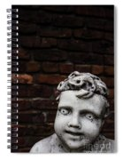 Creepy Marble Boy Garden Statue Spiral Notebook