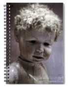 Creepy Old Doll Spiral Notebook