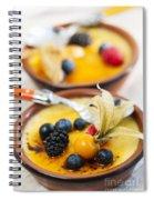 Creme Brulee Dessert Spiral Notebook