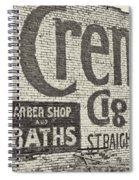 Cremo Cigar In Black And White Spiral Notebook