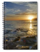 Crepuscular Rays At The Sea Spiral Notebook
