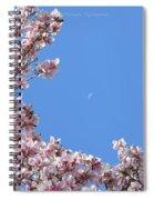 Crescent Around Crescent Spiral Notebook