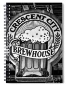 Crescent City Brewhouse - Bw Spiral Notebook