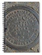 Crescent City Water Meter Spiral Notebook