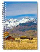Crested Butte Autumn Landscape Panorama Spiral Notebook
