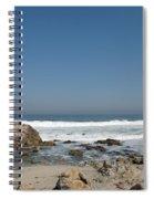 Crestwaves On A California Beach Spiral Notebook