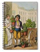 Cries Of London The Garden Pot Seller Spiral Notebook