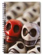 Crimson And Cream Spiral Notebook