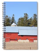 Crimson Barn Spiral Notebook