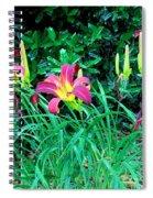 Crimson Flow Spiral Notebook