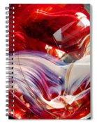 Crimson Orb Spiral Notebook