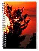 Crimson Sunset Spiral Notebook