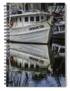 Crimson Tide And Reflection Spiral Notebook