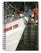 Crimson Tide Bow Spiral Notebook