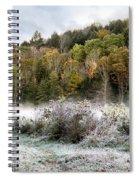 Crisp Morning Frost Hillside Landscape Spiral Notebook