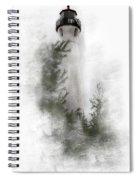 Crisp Point Lighthouse Michigan Spiral Notebook