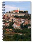 Croatian City Motovun  Spiral Notebook