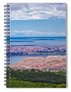 Croatian Islands Aerial View From Velebit Spiral Notebook