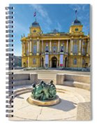 Croatian Nationa Theater In Zagreb Spiral Notebook