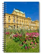 Croatian National Theatre Square In Zagreb Spiral Notebook