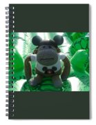 Croc Riding Monkey Spiral Notebook