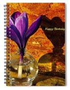 Crocus Floral Birthday Card Spiral Notebook