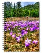 Crocus Flower Valley Spiral Notebook