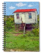 Crooked Little House - Orange Cats Spiral Notebook