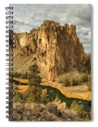 Croooked River Around The Jagged Peaks Spiral Notebook