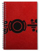 Crop Circle Formation Near Market Harborough In Leicestershire England In Black Spiral Notebook