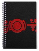 Crop Circle Formation Near Market Harborough In Leicestershire England In Red Spiral Notebook