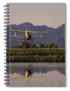 Crop Duster Applying Seed To Rice Field Spiral Notebook