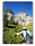 Cropped Rear View Of A Female Hiker Spiral Notebook