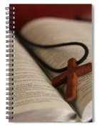 Cross And Bible Spiral Notebook
