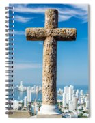 Cross And City Spiral Notebook