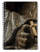 Cross And Feet Spiral Notebook