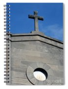 Religious Art Cross Architectural Spiral Notebook