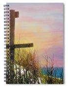Cross At Sunset Beach Spiral Notebook