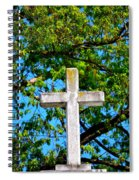 Cross At The Monastery Of The Holy Spirit Spiral Notebook