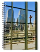 Cross At World Trade Towers Memorial Spiral Notebook