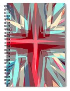 Cross Burst Spiral Notebook