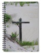 Cross In The Dunes Spiral Notebook