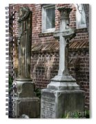 Cross Tombstone Spiral Notebook