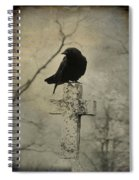 Crow On A Crooked Old Cross Spiral Notebook