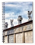Crosses And Angels Spiral Notebook
