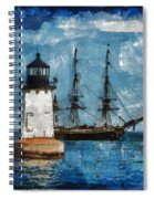 Crossing Into The Harbor Spiral Notebook