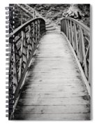 Crossing Over - Black And White Spiral Notebook