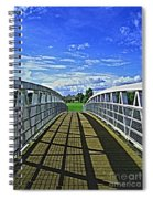 Crossing Over Bridge Spiral Notebook